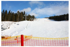 Ski slope, net Stock Photography