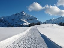 Free Ski Slope On The Wispile, Spitzhorn Stock Photos - 47769383