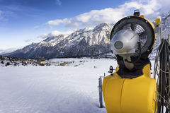 Ski slope in Passo Tonale, Italy Royalty Free Stock Images