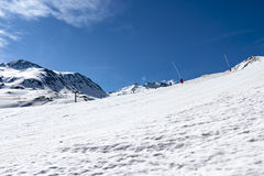 Ski slope. Without people in Catalonia (Spain Royalty Free Stock Photography
