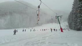 Ski slope in Poiana Brasov resort, Romania stock video