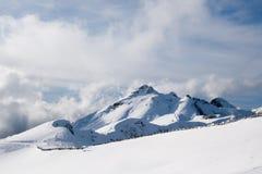 Ski on the slope of the ridge Aibga Royalty Free Stock Photography
