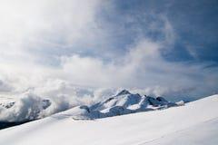Ski on the slope of the ridge Aibga Royalty Free Stock Photos