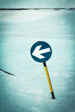 Ski slope sign Stock Image