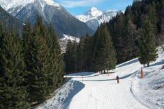 Ski slope Royalty Free Stock Photography