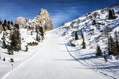 Ski Slope Snow Dolomites Royaltyfria Bilder