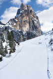 Ski Slope Snow Dolomites Royalty Free Stock Photography