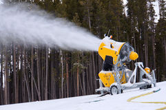 Ski slope snow machine Stock Photography