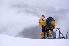 Ski slope snow machine Royalty Free Stock Photo