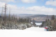 Ski Slope on Snowshoe Mountain, West Virginia Royalty Free Stock Image