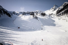 Ski slope Royalty Free Stock Images