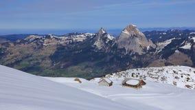 Ski slope in Stoos Stock Image