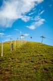 Ski slope in summer Royalty Free Stock Photography