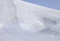 Ski slope at sun morning Stock Photography