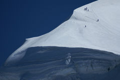 Ski slope in swiss Alps, Zermatt Royalty Free Stock Photography