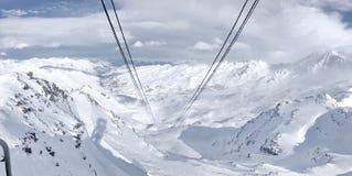 Ski Slope Val Thorens Drei Täler frankreich stockfotos