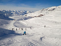 Ski slope at Val Thorens Stock Images