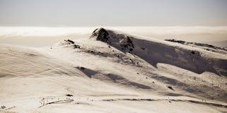 Ski slope. Winter time Royalty Free Stock Photos