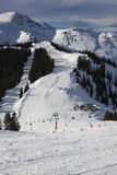 Ski slope, Zell am See, Alps Stock Photography