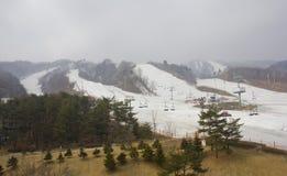 Ski Slopes Stock Afbeelding