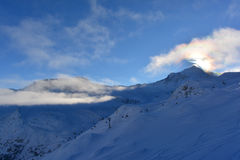 Ski Slopes Fotografia Stock Libera da Diritti