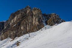 Ski Slopes in Alagna Royalty Free Stock Photography