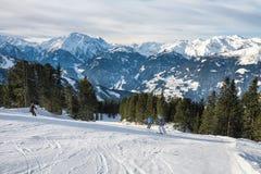 Ski slopes in the Alps, Austria Stock Image