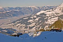 Ski Slopes in Austria Stock Photos