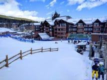 Ski slopes of Breckenridge Colorado. Snowy Breckenridge Colorado. Ski location in the united states Stock Photo