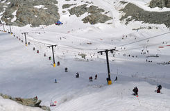Ski slopes are busy year round at Whistler Mountain. Stock Image