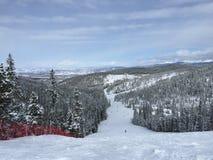 Ski Slopes dans les Colorado Rockies Image stock