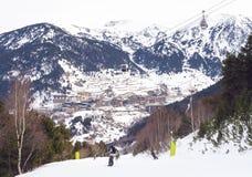 Ski Slopes El Tarter Andorra stock image