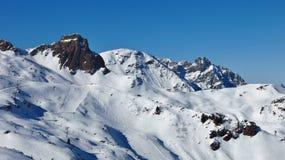 Ski slopes in the Flumserberg ski area Stock Photography