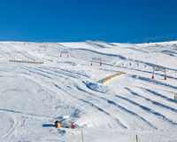 Ski slopes in French Alps Stock Photos