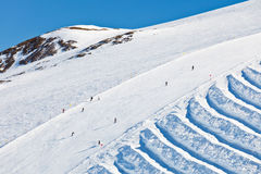 Ski slopes in French Alps Stock Images