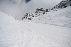 Ski slopes of the hill Bettaforca Stock Photography