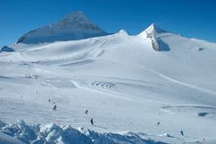 Ski slopes on Hintertux glacier Stock Photo