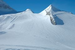 Ski slopes on Hintertux glacier Royalty Free Stock Images