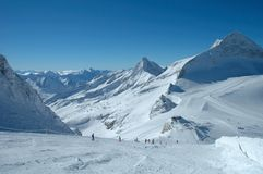 Ski slopes on Hintertux glacier Stock Photography