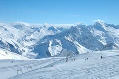 Ski slopes on Hintertux glacier Royalty Free Stock Photography