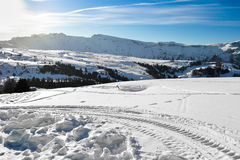 Ski slopes on the Italian Alps. Stock Photo