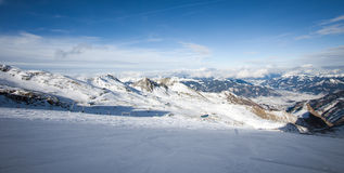 Ski slopes in Kaprun resort Stock Images