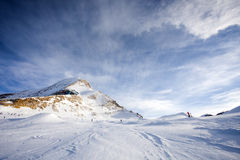 Ski slopes in Kaprun resort Stock Image