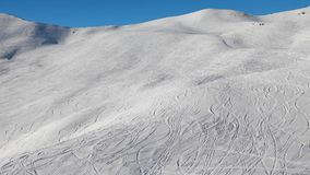 Ski Slope with Fresh Curves stock footage