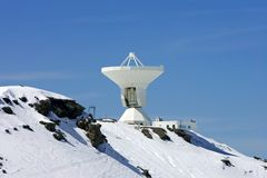 Ski slopes and observatory of resort in Spain royalty free stock images