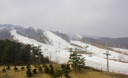 Ski slopes Royalty Free Stock Photography