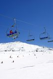 Ski slopes of Pradollano ski resort in Spain Royalty Free Stock Photo