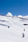 Ski slopes of Pradollano ski resort in Spain Royalty Free Stock Image