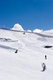 Ski slopes of Pradollano ski resort in Spain royalty free stock image