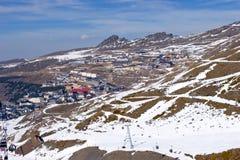 Ski slopes of Pradollano ski resort in Spain Stock Photo